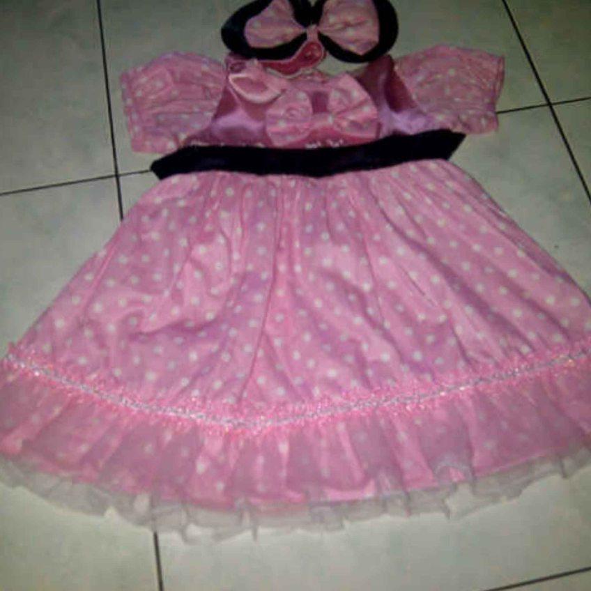baju pesta barbie anak umur 1 tahun